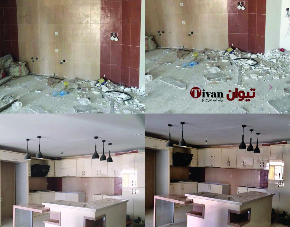 دکوراسیون،پروژه مسکونی، طراحی آشپزخانه، طراحی کابینت،طراحی مسکونی درتهران