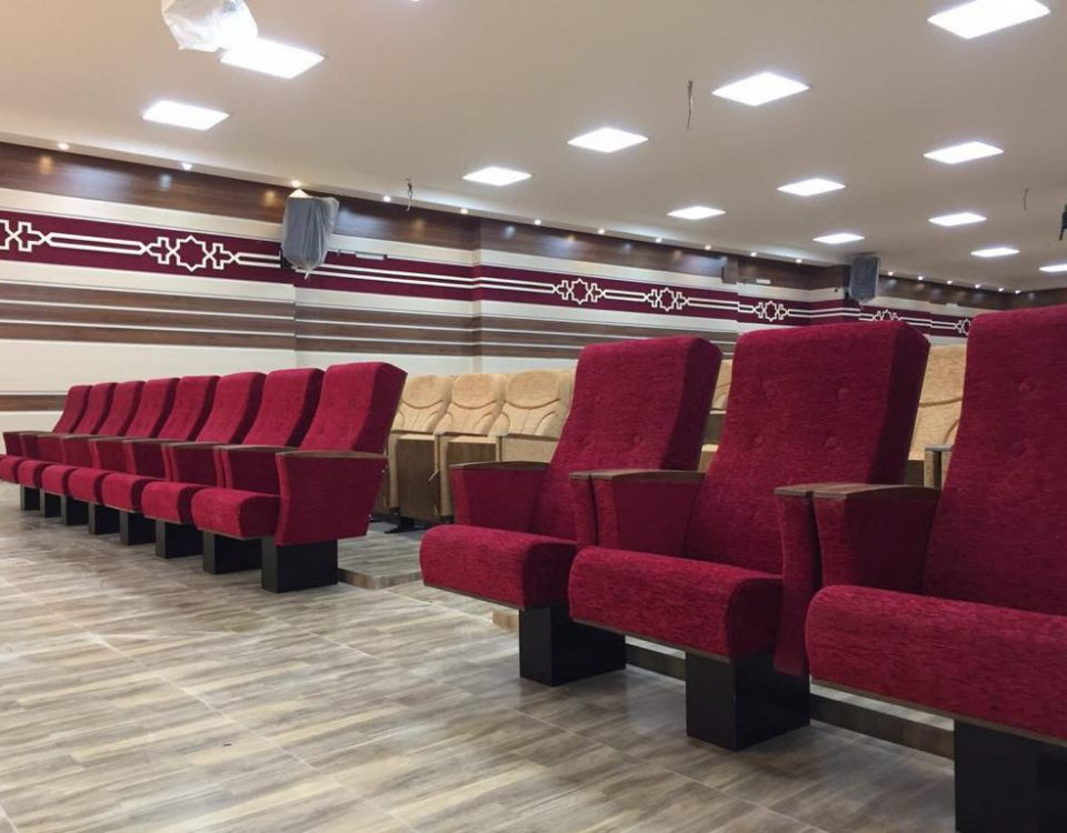طرح بندی و ابعاد صندلی های آمفی تئاتر