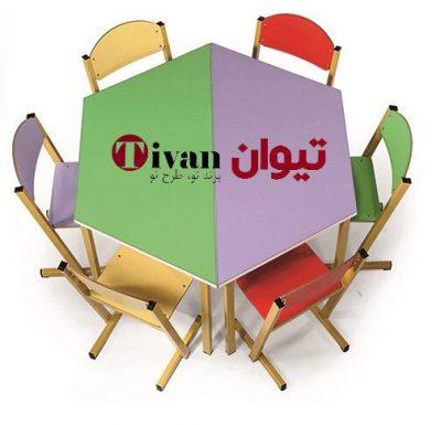 تولیدکننده ی میز های شش ضلعی
